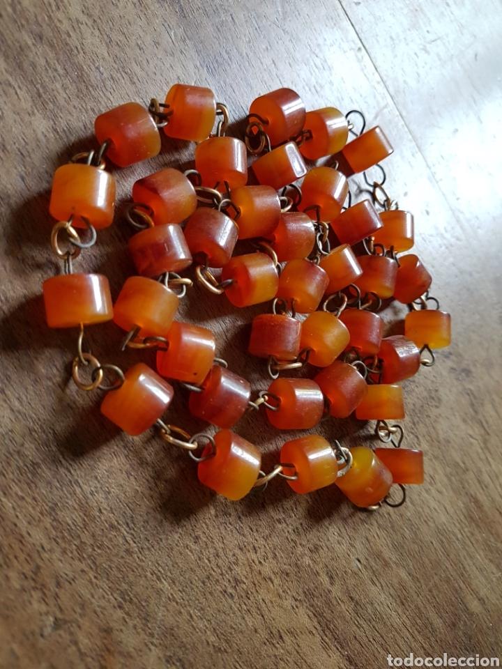 Joyeria: Antiguo collar de cuentas de cuentas de ambar - Foto 3 - 252278740