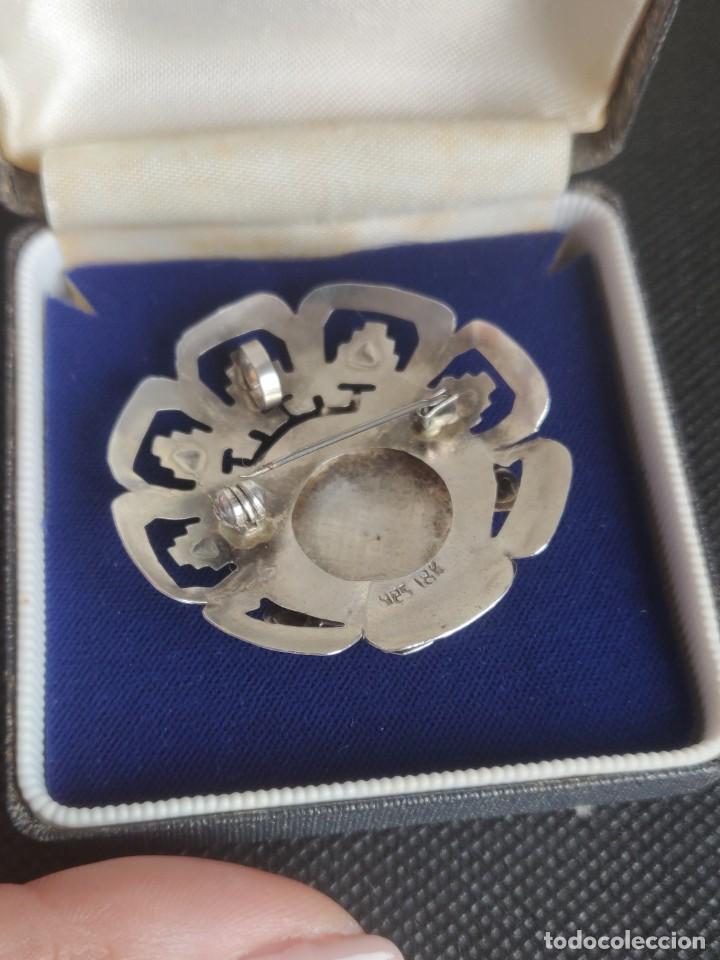 Joyeria: Colgante antiguo y broche Díos Azteca Viracocha oro 18 kt y plata estelina. - Foto 8 - 252401590