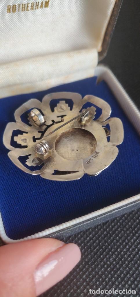 Joyeria: Colgante antiguo y broche Díos Azteca Viracocha oro 18 kt y plata estelina. - Foto 11 - 252401590