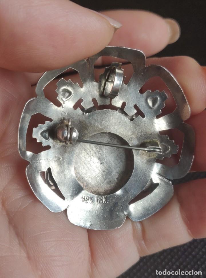 Joyeria: Colgante antiguo y broche Díos Azteca Viracocha oro 18 kt y plata estelina. - Foto 14 - 252401590