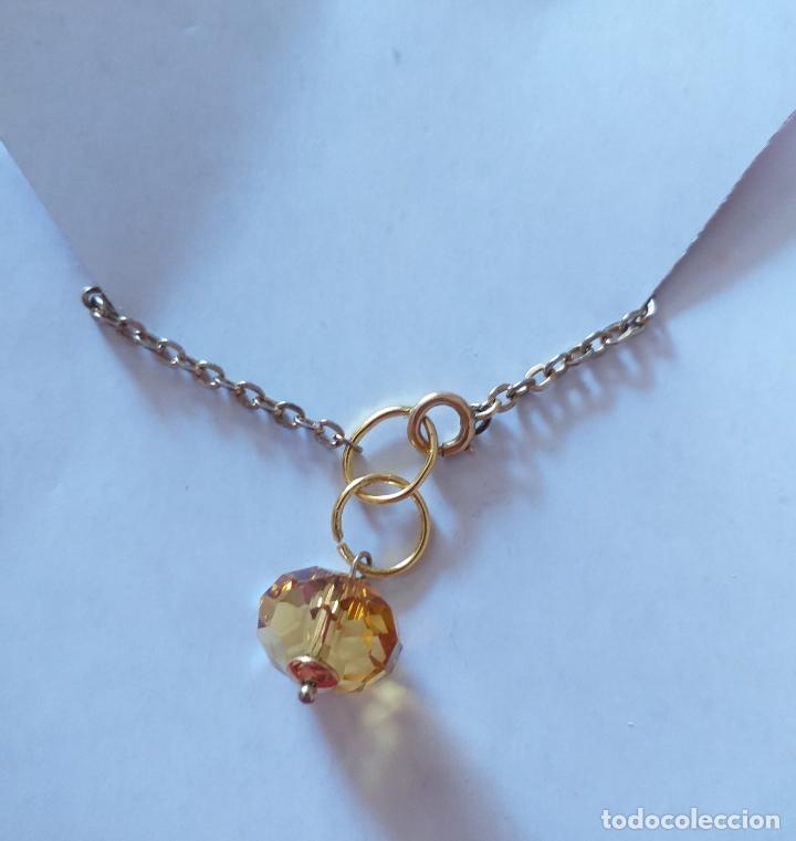 Joyeria: Pulsera. Cadena dorada. Piedra color amarillo. 18 cm - Foto 7 - 252056350