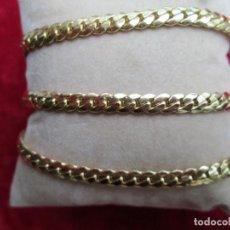 Joyeria: CONJUNTO CADENA Y PULSERA DE ORO GOLD FILLED 14/20 KLTS - SERPIENTE. Lote 253209455