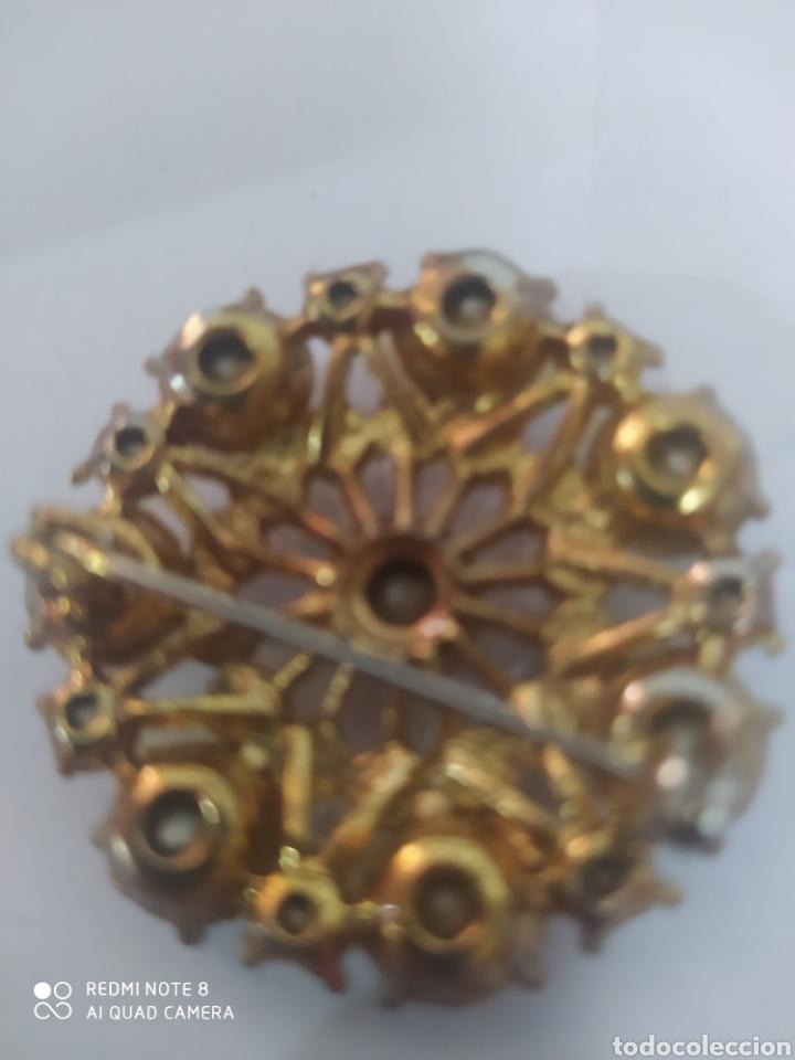 Joyeria: Fastuoso broche vintage cristales radiantes arcoiris maravillosos - Foto 2 - 253307300