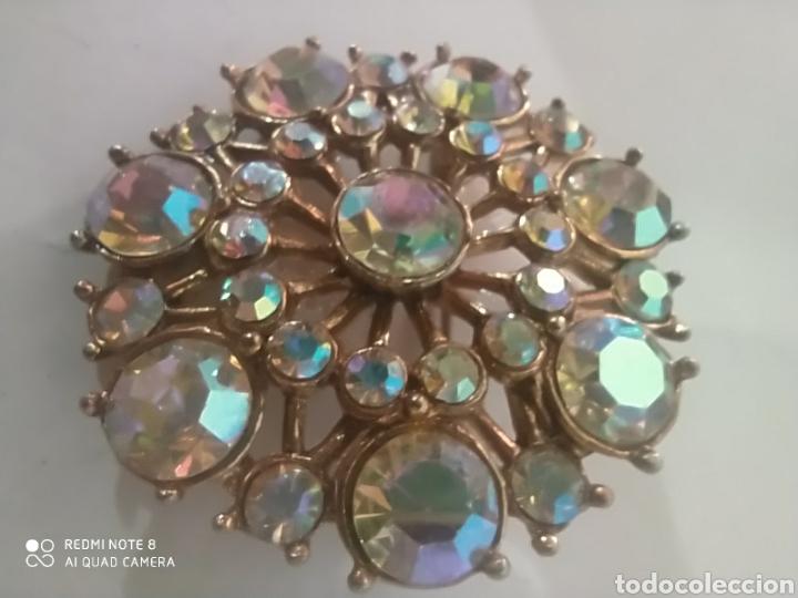 Joyeria: Fastuoso broche vintage cristales radiantes arcoiris maravillosos - Foto 3 - 253307300