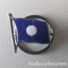 Joyeria: 1920 INSIGNIA TIPO PIN PLATA ESMALTADA COMPAÑIA TRASATLANTICA ESPAÑOLA JOYERIA RAMON FERNANDEZ VIGO. Lote 253488465