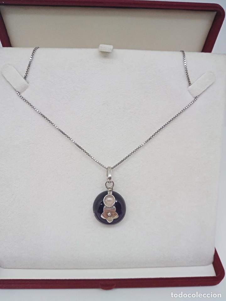 Joyeria: Gran Colgante de Amatista natural,Piedra lunar y plata 925. 14,29 gramos - Foto 3 - 253933190