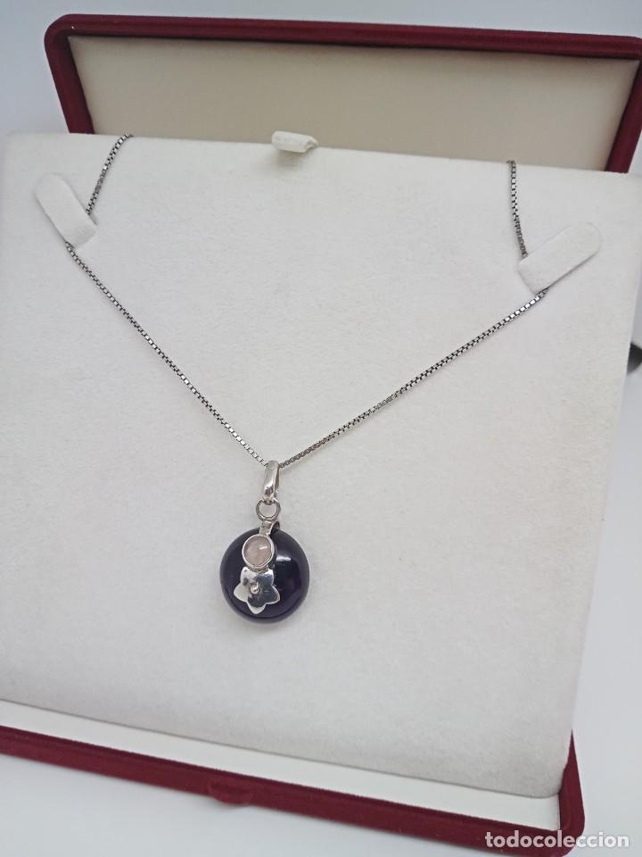 Joyeria: Gran Colgante de Amatista natural,Piedra lunar y plata 925. 14,29 gramos - Foto 4 - 253933190