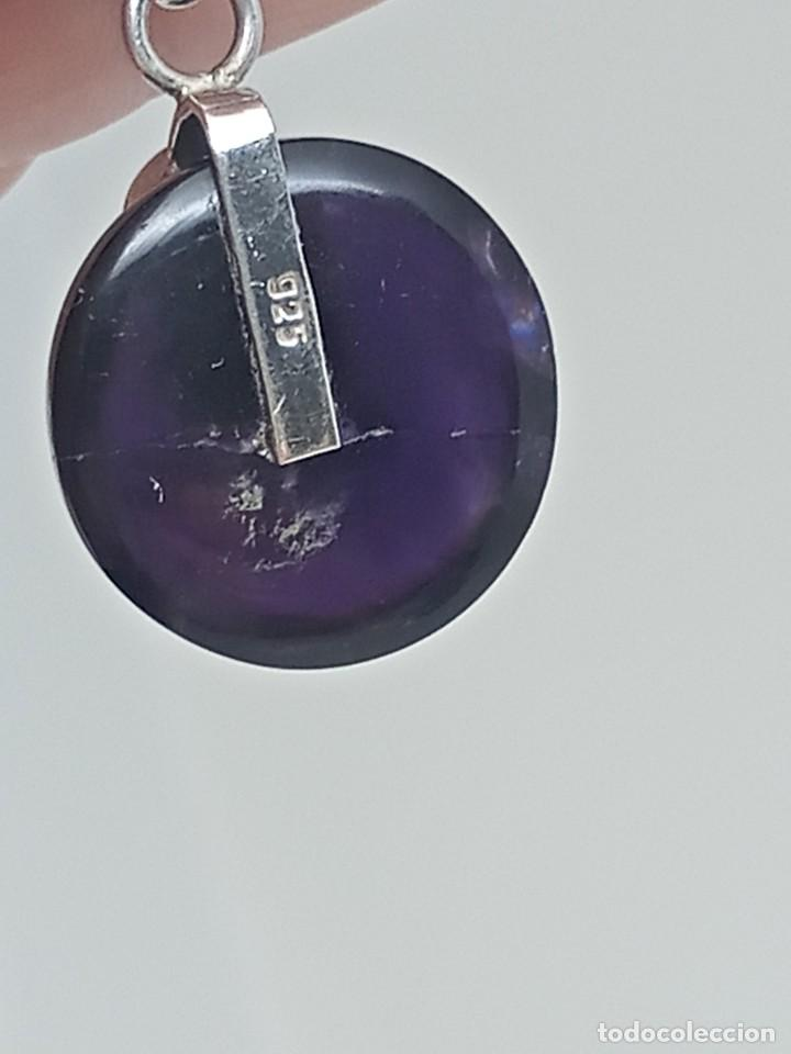 Joyeria: Gran Colgante de Amatista natural,Piedra lunar y plata 925. 14,29 gramos - Foto 6 - 253933190