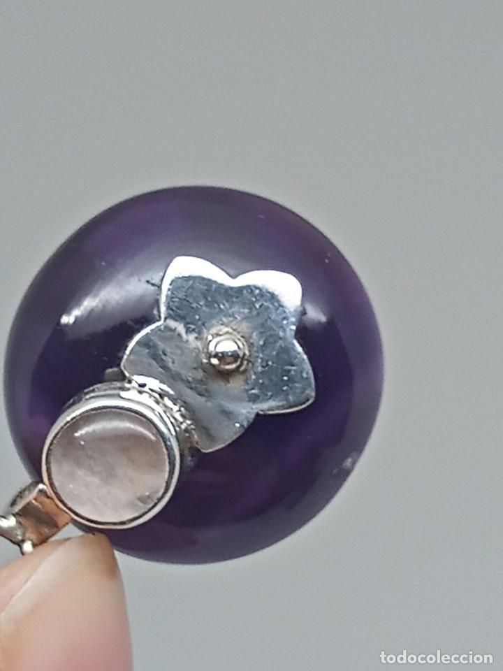 Joyeria: Gran Colgante de Amatista natural,Piedra lunar y plata 925. 14,29 gramos - Foto 7 - 253933190