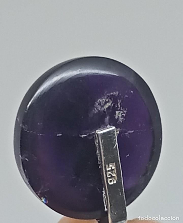 Joyeria: Gran Colgante de Amatista natural,Piedra lunar y plata 925. 14,29 gramos - Foto 15 - 253933190