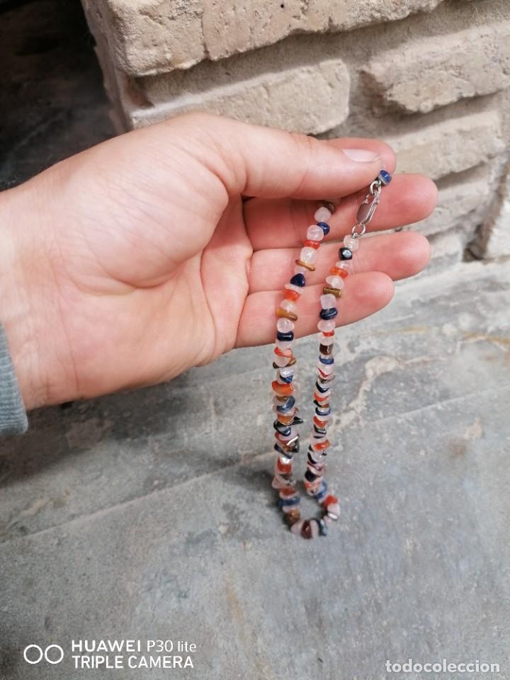 Joyeria: collar de piedras con enganche de plata - Foto 2 - 254085905
