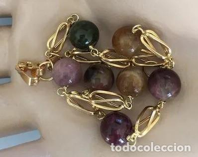 Joyeria: Pulsera de oro de 18Kt y turmalinas multicolor. - Foto 7 - 100424019