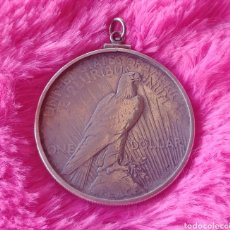 Joyeria: COLGANTE Y MONEDA 1 COLLAR MORGAN 1926 ( AMBOS EN PLATA ). Lote 255937570