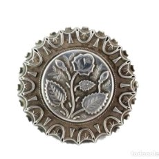 Joyeria: BROCHE DE PLATA. ART NOUVEAU CA 1890 - A SILVER BROOCH - 40X5MM 7GR. Lote 220857948