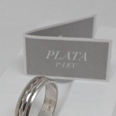 Joyeria: VINTAGE ALIANZA FACETADA DE PLATA DE LEY 925 . DIÁMETRO INTERIOR 18,7 MM. Lote 257539180