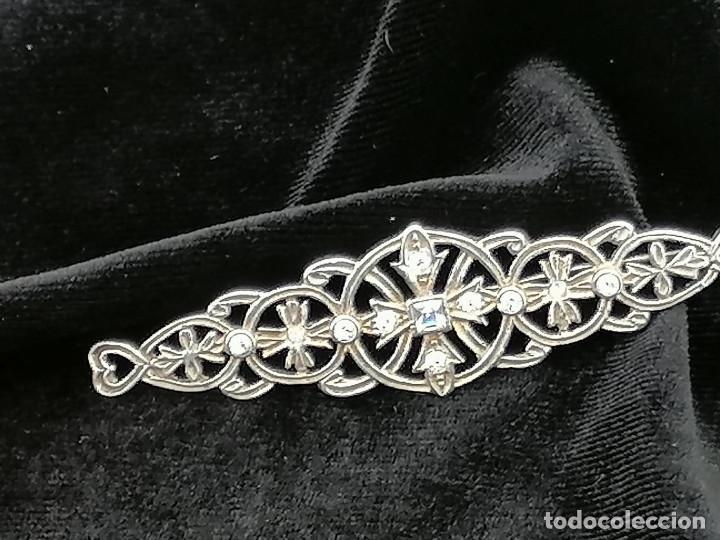 Joyeria: Broche de plata año 1950 con circonitas. buen estado - Foto 5 - 258152850