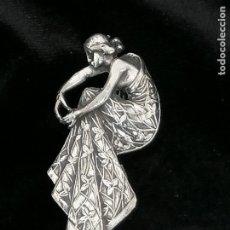 Joyeria: BROCHE MODERNISTA DE PLATA AÑO 1920. MODERNISTA. Lote 258155050