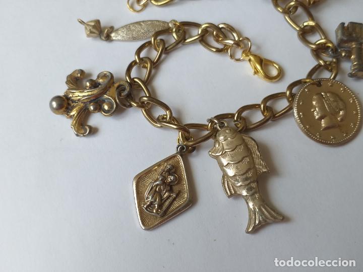 Joyeria: Pulsera o brazalete de metal con múltiples abalorios - Foto 3 - 260701195
