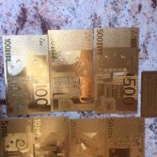 Joyeria: PRECIOSA COLECCION DE BILLETES DE EURO EN ORO FINO 999'9 24K CON CERTIFICADO. Lote 261539150