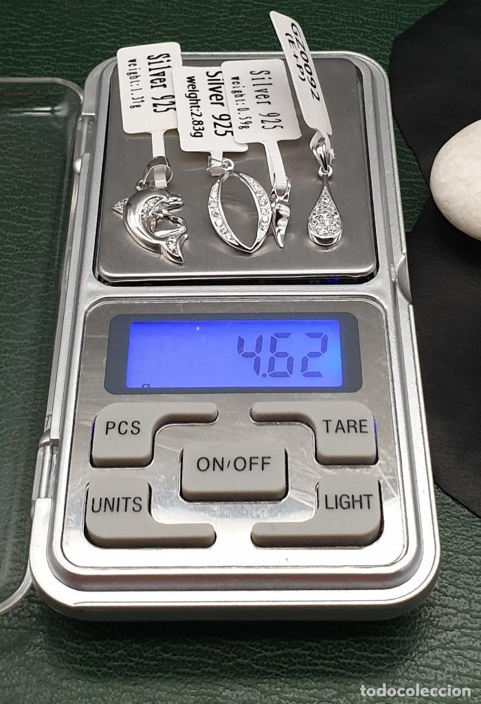 Joyeria: Conjunto 4 colgantes plata ley 925 cz. - Foto 7 - 261854410