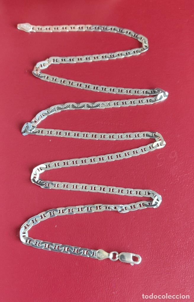 Joyeria: Cadena de plata 925 Italiana modelo Marina Martillada de 56 cm.. - Foto 2 - 262363785
