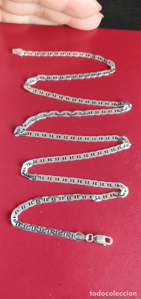 Joyeria: Cadena de plata 925 Italiana modelo Marina Martillada de 56 cm.. - Foto 3 - 262363785