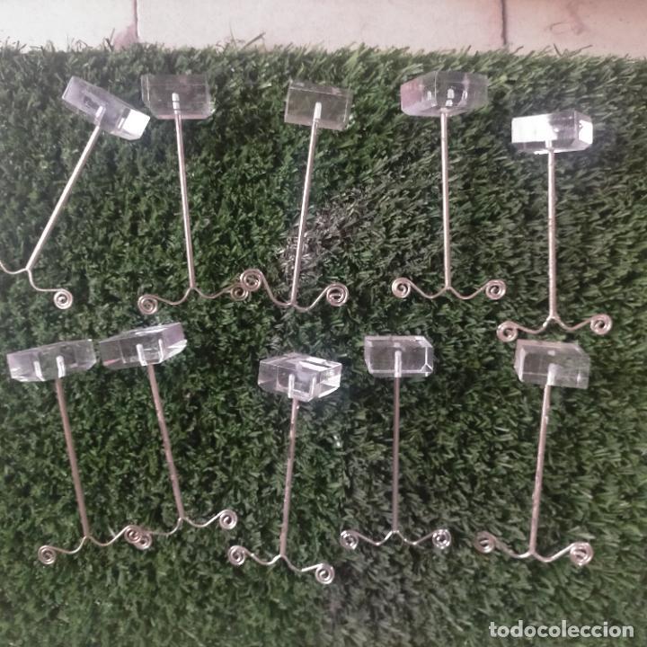 Joyeria: 41 piezas expositores de joyeria relojeria escaparate para pulseras anillos relojes cadenas collare - Foto 4 - 264792609