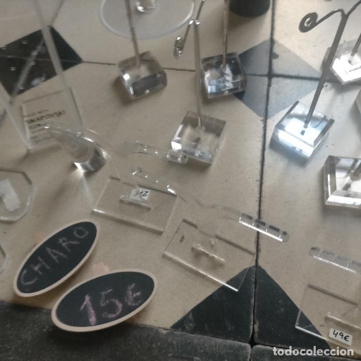 Joyeria: 41 piezas expositores de joyeria relojeria escaparate para pulseras anillos relojes cadenas collare - Foto 12 - 264792609