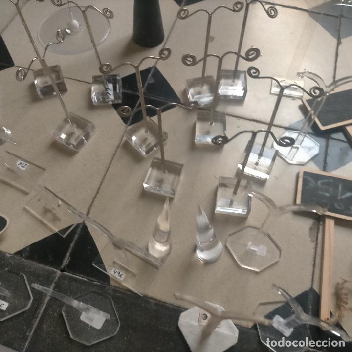 Joyeria: 41 piezas expositores de joyeria relojeria escaparate para pulseras anillos relojes cadenas collare - Foto 21 - 264792609