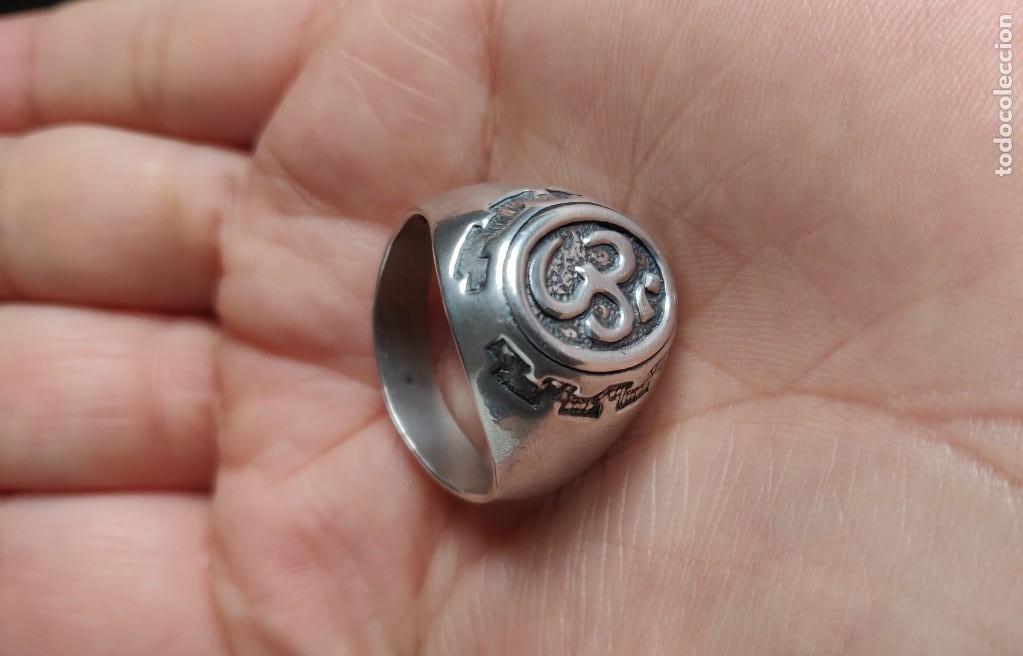 Joyeria: Anillo vintage de hombre plata estelina 925 Om símbolo budista - Foto 2 - 265682579