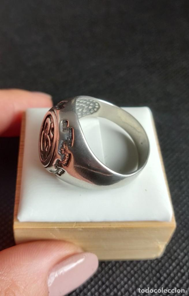 Joyeria: Anillo vintage de hombre plata estelina 925 Om símbolo budista - Foto 9 - 265682579