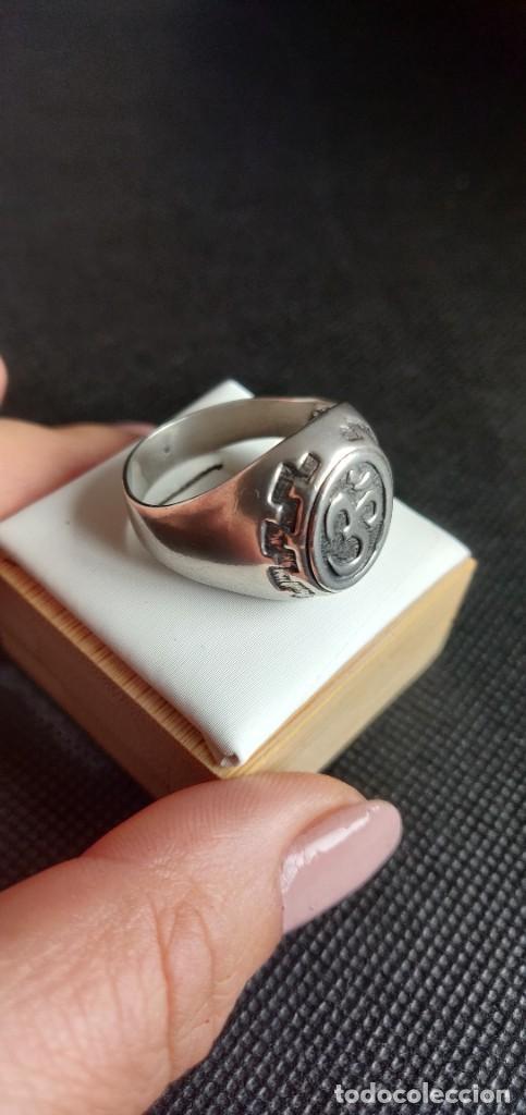 Joyeria: Anillo vintage de hombre plata estelina 925 Om símbolo budista - Foto 13 - 265682579