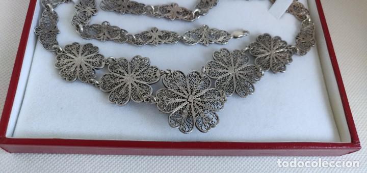 Joyeria: Collar antiguo de filgarna y Turquesa de plata esterlina 925. - Foto 8 - 266323068