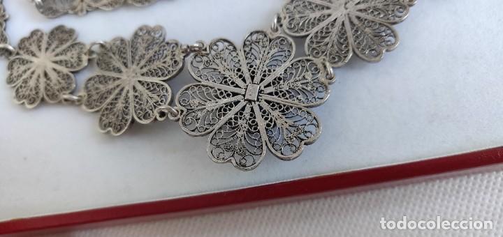 Joyeria: Collar antiguo de filgarna y Turquesa de plata esterlina 925. - Foto 9 - 266323068