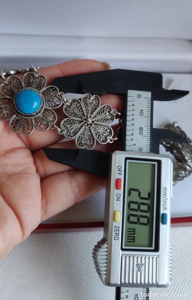 Joyeria: Collar antiguo de filgarna y Turquesa de plata esterlina 925. - Foto 13 - 266323068