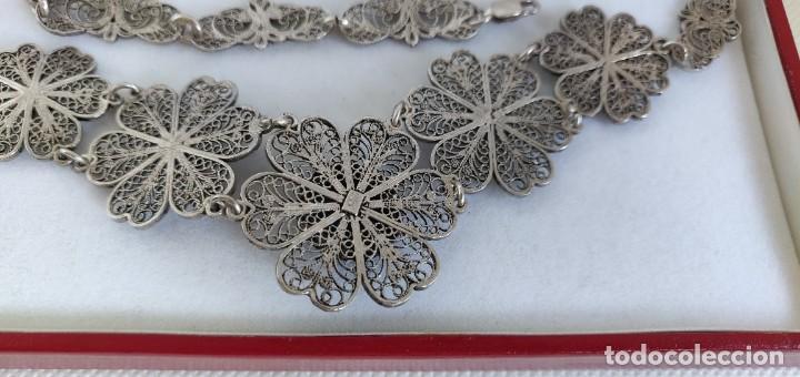 Joyeria: Collar antiguo de filgarna y Turquesa de plata esterlina 925. - Foto 19 - 266323068