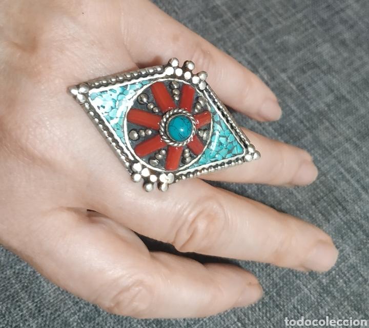 Joyeria: Precioso anillo Antiguo de plata Artesanal, Bereber - Foto 4 - 266520213