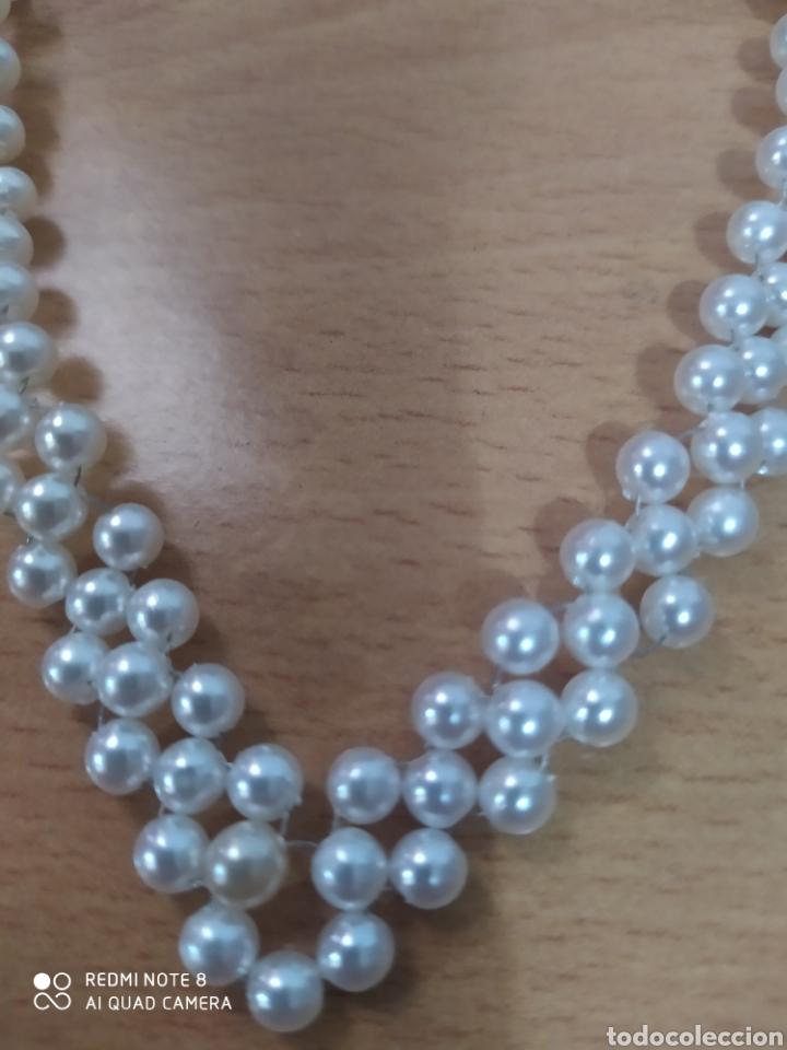 Joyeria: Preciosa gargantilla de perlinas tejida con cierre vintage - Foto 2 - 266895889