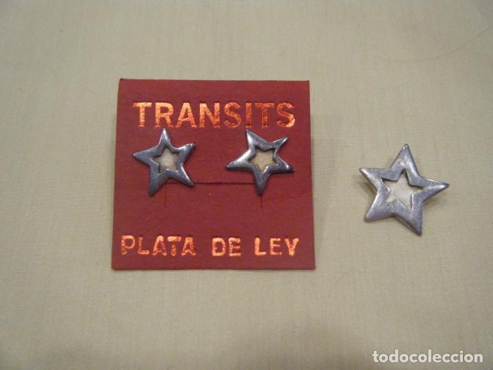 CONJUNTO DE PENDIENTES Y COLGANTE. PLATA DE LEY Y ESMALTE. (Joyería - Pendientes Antiguos)
