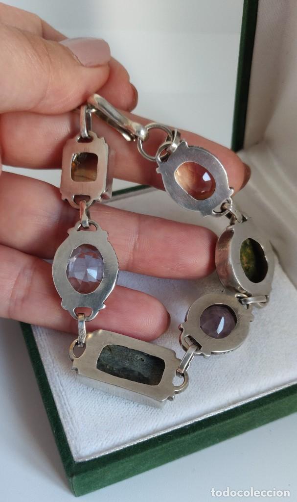 """Joyeria: Pulsera de plata esterlina con 6 gemas """"Citrino, Ágata, Amatista, Perla, Topacio y Turmalina. - Foto 7 - 267615334"""