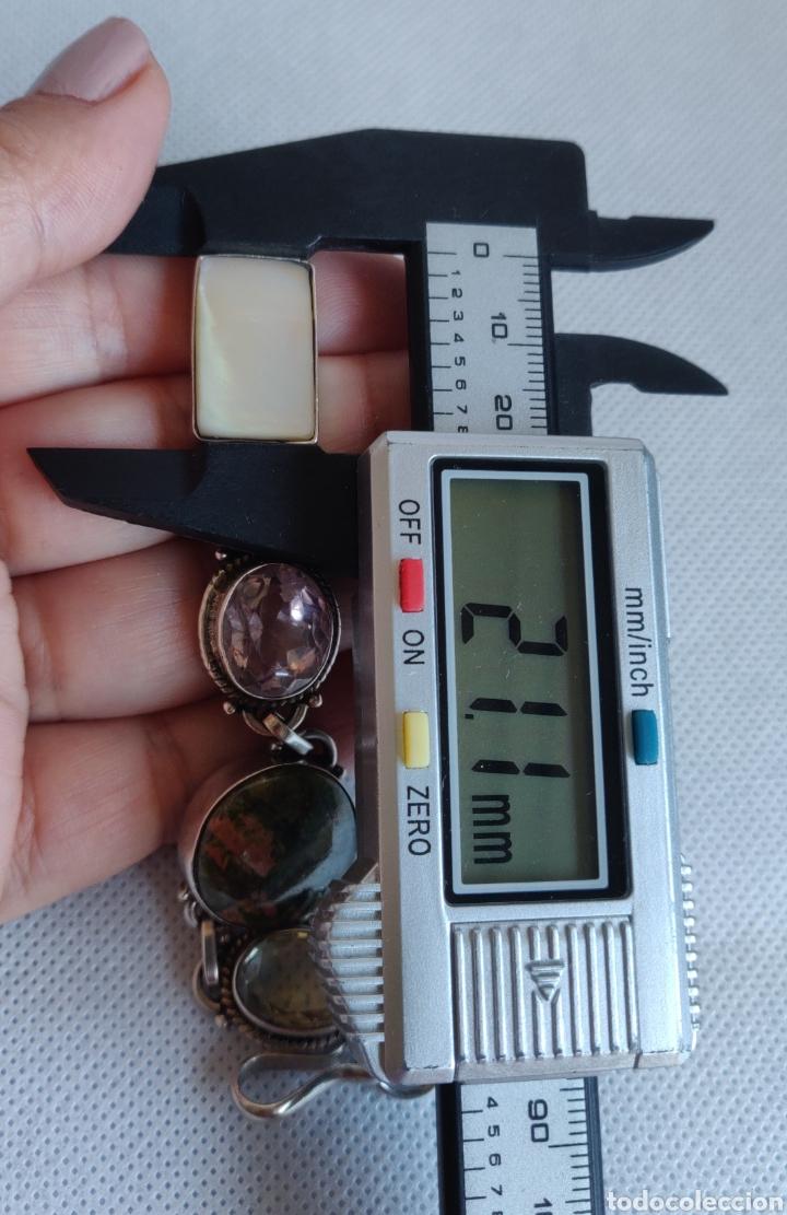 """Joyeria: Pulsera de plata esterlina con 6 gemas """"Citrino, Ágata, Amatista, Perla, Topacio y Turmalina. - Foto 17 - 267615334"""