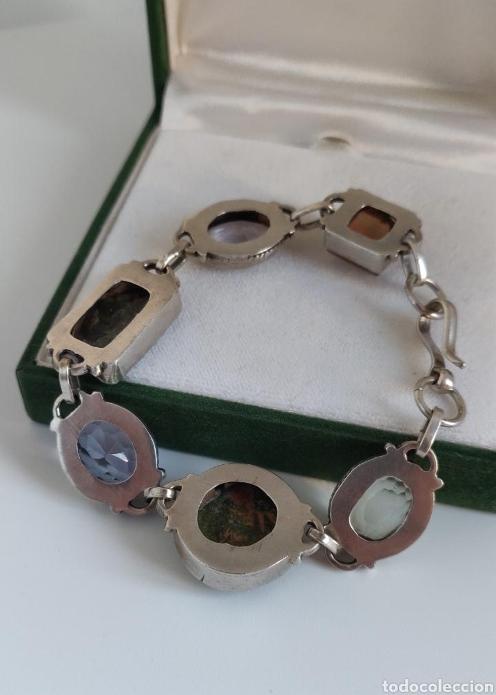 """Joyeria: Pulsera de plata esterlina con 6 gemas """"Citrino, Ágata, Amatista, Perla, Topacio y Turmalina. - Foto 29 - 267615334"""