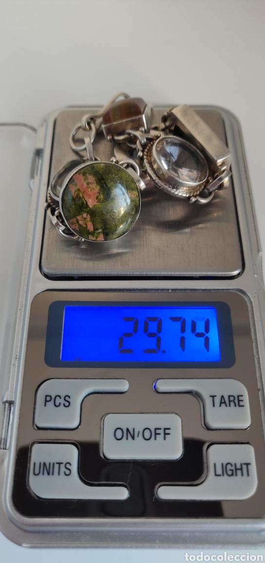 """Joyeria: Pulsera de plata esterlina con 6 gemas """"Citrino, Ágata, Amatista, Perla, Topacio y Turmalina. - Foto 31 - 267615334"""