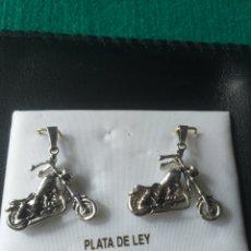 Joyeria: LOTE DE DOS COLGANTES DE PLATA LEY CON FORMA DE MOTO TIPO HARLEY. Lote 268459534