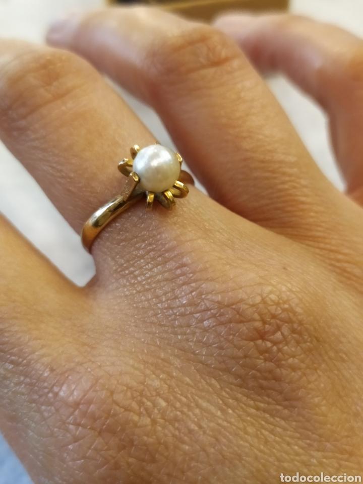 Joyeria: Conjunto pendientes y anillo. Oro 18K y perlas. - Foto 5 - 268610809