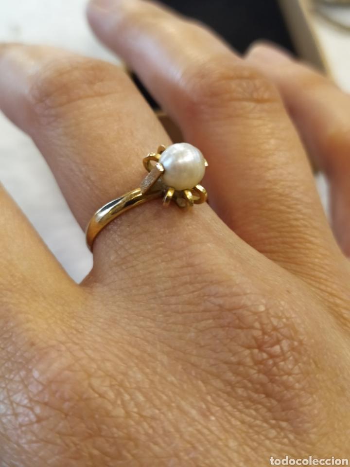 Joyeria: Conjunto pendientes y anillo. Oro 18K y perlas. - Foto 6 - 268610809