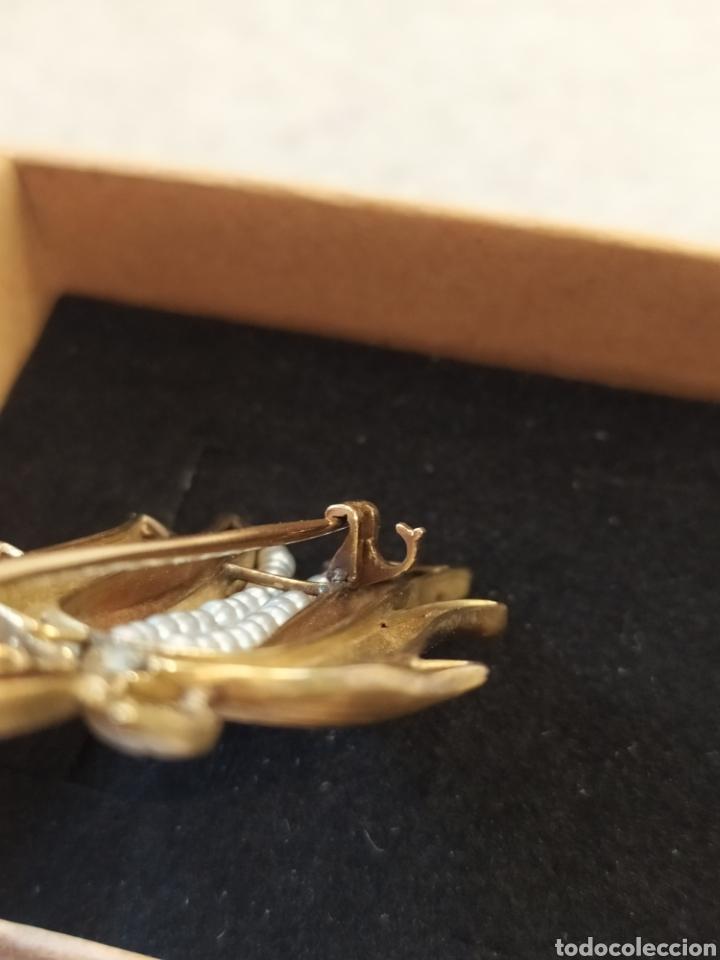 Joyeria: Broche art Déco oró 18k y perlas, motivos florales. - Foto 5 - 268616234