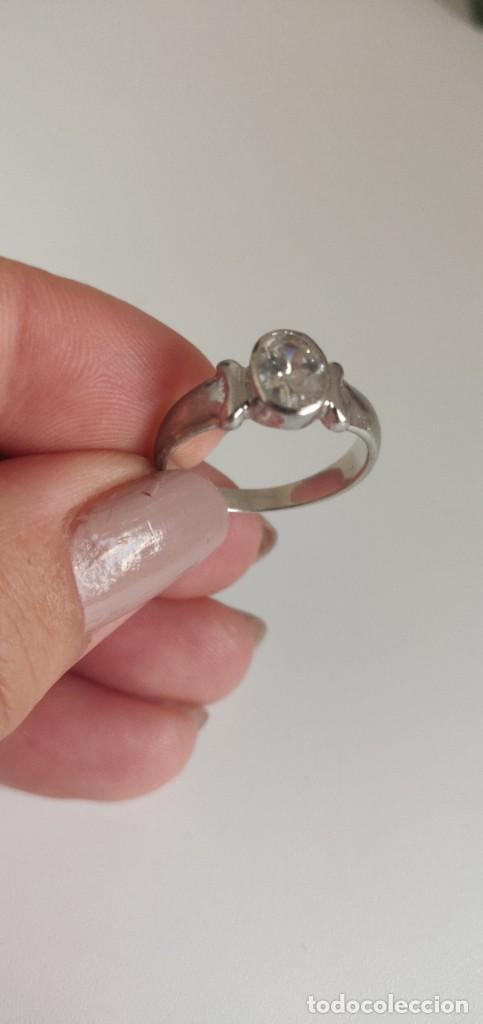 Joyeria: Solitario de plata esterlina 925 y circonita cúbica. - Foto 3 - 268896434