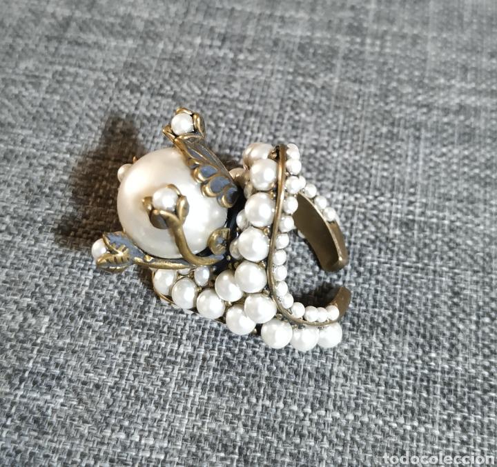 Joyeria: Espectacular anillo de Bronce y perlas - Foto 2 - 269225028