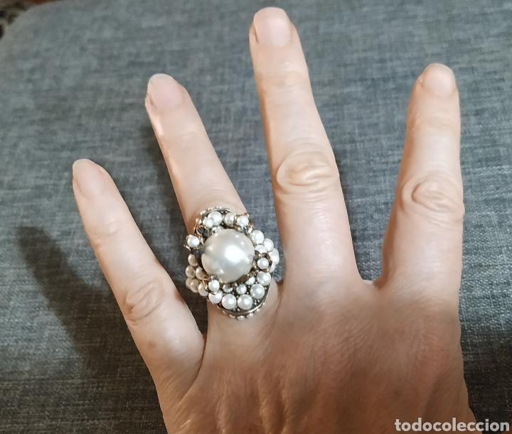 Joyeria: Espectacular anillo de Bronce y perlas - Foto 5 - 269225028